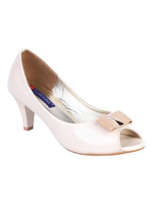 Synthetic Stylish Fancy nude heel Sandal For Women