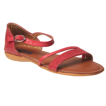 Women Synthetic Red Sandal