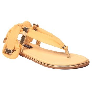 women Synthetic Yellow Sandals