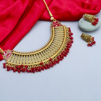 Red necklaces