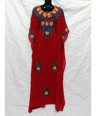 red  COLOR EMBRODERY FARASHA