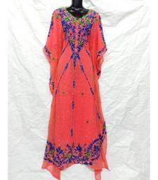 Light Peach  Color Embroidery Farasha