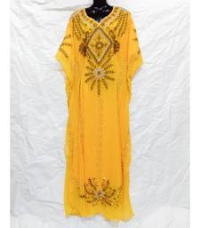 Yellow  Color Embrodery Farasha