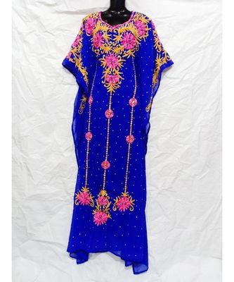 Blue Color Embrodery Farasha