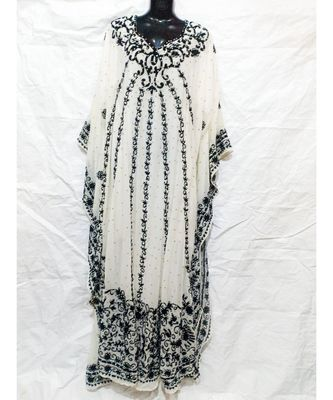 White  Color Embroidery Farasha