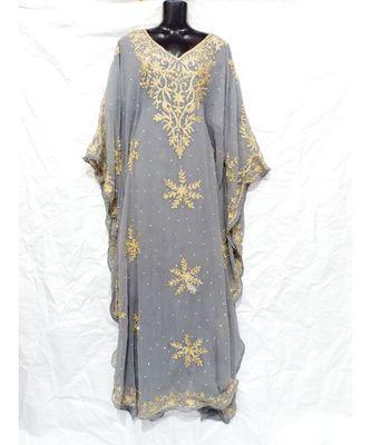 Grey  Color Embroidery Farasha
