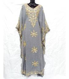 Grey  Color Embroidery Farasha