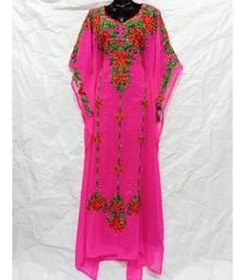 Baby Pink  Color Embroidery Farasha