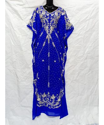 BLUE COLOR EMBROIDERY FARASHA