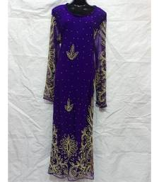 Purple  Color Embrodery Farasha