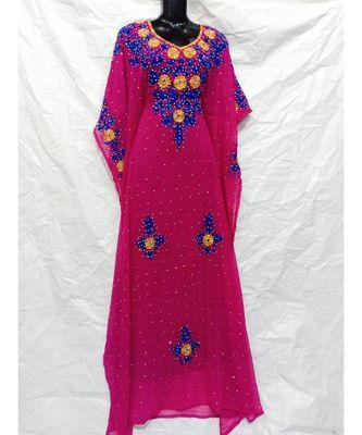 Hot Pink  Color Embrodery Farasha