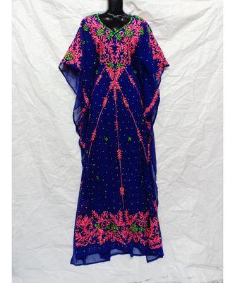 Dark Blue Color Embroidery Farasha
