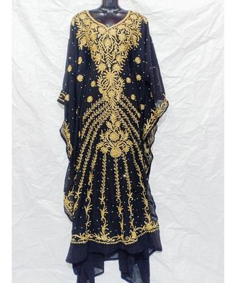 Black  Color Embroidery Farasha