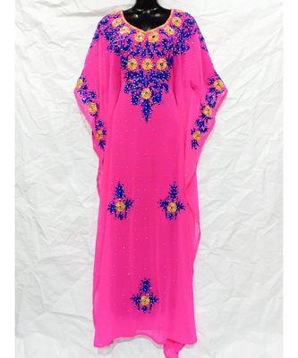 Pink Color Embroidery Farasha