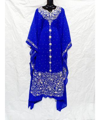 Blue Color Embroidery Farasha