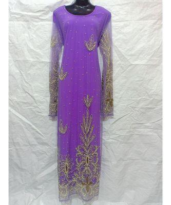 Lavender Color Embroidery Farasha