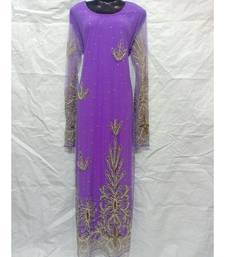 Lavender Color Embroidery Farasha