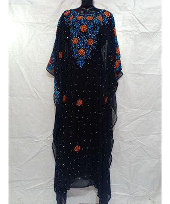 Black Color Handmade Abaya