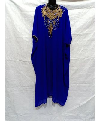 Blue Color Handmade Abaya