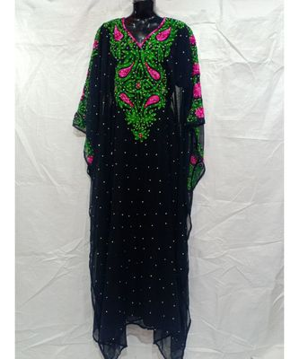 Black Color Handmade Abaya
