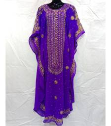 Purple Color Handmaade Abaya
