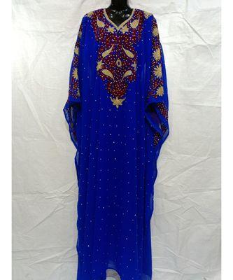 Blue Color Handmade Abaya