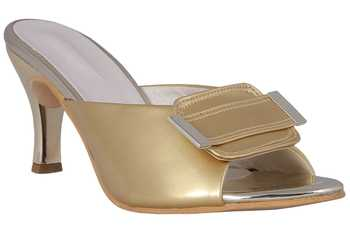 Gold stylish Fancy Heels for women