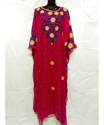 Red Color New Handmade Kaftan