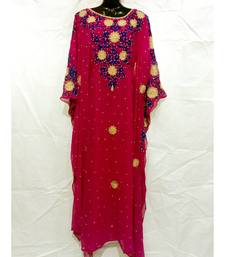 Red Color New Handmade Kaftan