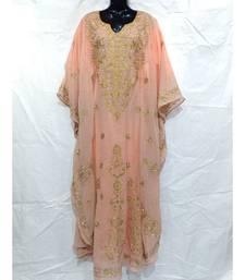 Peach Color Handmade Abaya
