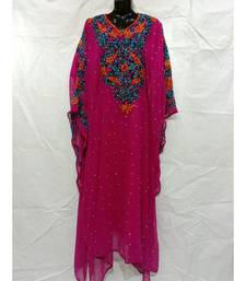 Pink Color Handmade Abaya