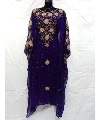 Purple Color Handmaade Abaya