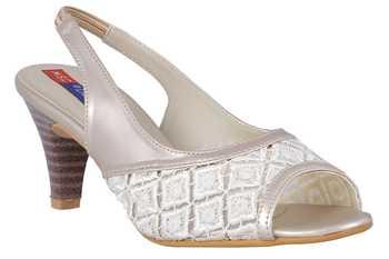 Synthetic White stylish Fancy Heels for women