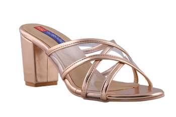 Women gold slip on sandals