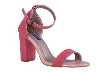 Women Pink  Suede heels sandals