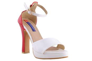 Women White  ankle strap sandals