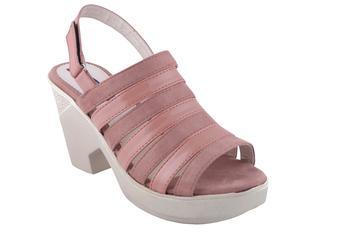 Women  Pink  back strap block heel sandals