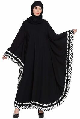 Black Plain Nida Abaya