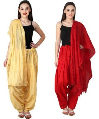 multicolor cotton Patiala with cotton Dupatta