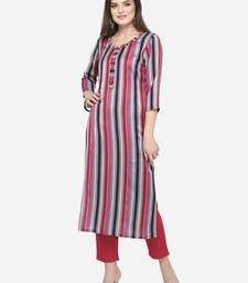 Multicolor plain cotton kurtas-and-kurtis