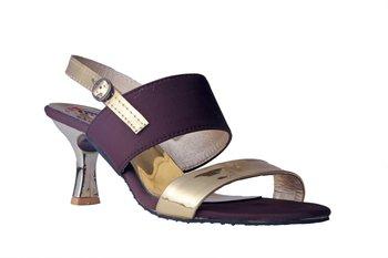 Women Synthetic Brown mid Heels