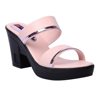 Women Synthetic Pink block heel