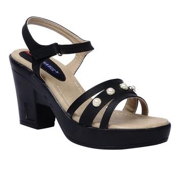 Women Synthetic Black sandal