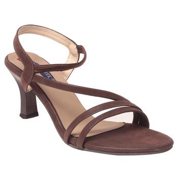 Women Synthetic Brown Heels