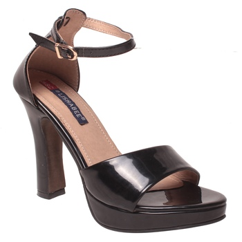 Women Synthetic Black Heels