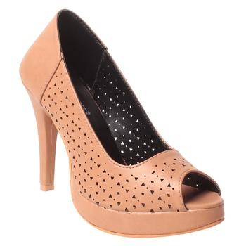 women Synthetic Beige Heels