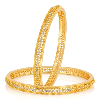 White Cubic Zirconia Bangles And Bracelets