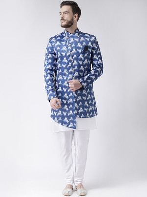 multicolor floral print indo western dresses