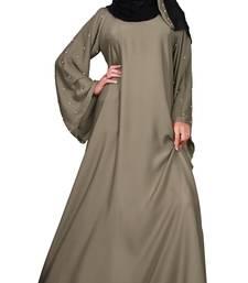 Justkartit Women's Light Stone Color Nida Plain Abaya Burka With Dupatta