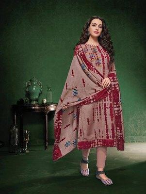 Brown & Maroon Designer Pashmina Suit